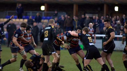 Action from OAs game against Esher.