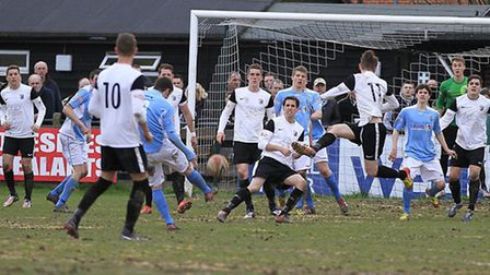 Rugby Town have a go at goal. Picture by Kevin Richards