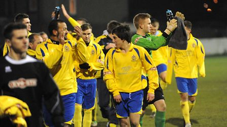 Saints continued their playoff march with a 3-0 win over Frome Town.