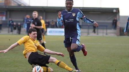 NEW BOY: Dubi Ogbonna made his debut for St Neots coming on as a substitute in their game against Le
