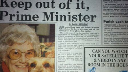 Hunts Post front page March 3, 1994.