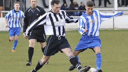 DOUBLE GOALSCORER: Ben Colmer, who scored twice for Eynesbury Rovers against Bugbrooke on Saturday,