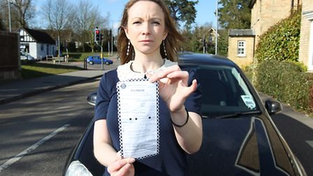 Claire Burton received a parking ticket for parking in her friend's residents bay. Claire is picture