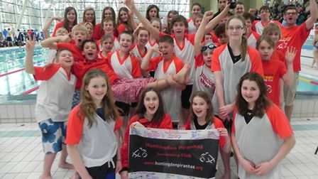 MAKING A SPLASH: Huntingdon Piranhas success at the Cambridgeshire County Championships is a giant s