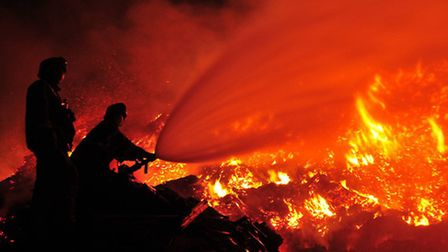 Fire at Wood Recycling Services, Appspond Lane, Potters Crouch