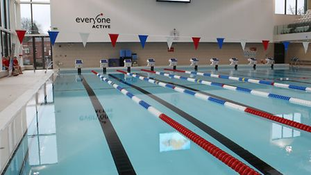 The new swimming pool at Westminster Lodge Leisure centre