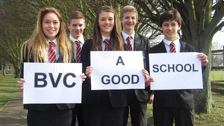 Bassingbourn village college students celebrate their good Ofsted status