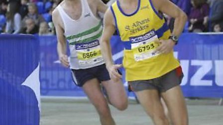 Blake Vivian was the first Striders in the men's team to complete the Reading Half Marathon.