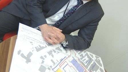 New National President of Planning Malcolm Sharp, at Pathfinder House, Huntingdon