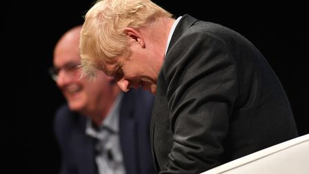 Conservative Party leadership candidate Boris Johnson during a Tory leadership hustings in Cheltenha