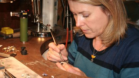 Goldsmith Fiona Rae at work in her studio