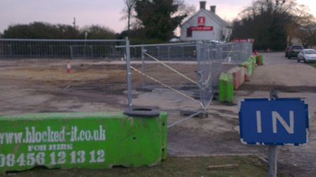 The site of Royston's new McDonald's restaurant has been cordoned off ready for the start of constru