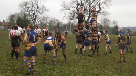 Action from St Albans RFC 15-8 win over Harpenden.