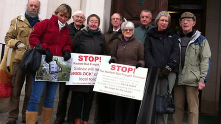 STRiFE Campaigners present their 10,000-signature petition to Herts county council