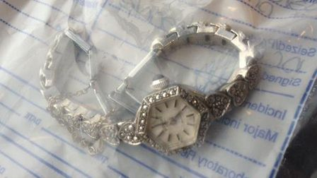 One of the pieces of jewellery seized by police