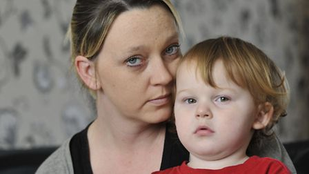 Huntingdon youngster Max Brown ate Nicquitin Mints by accident, with mum Kerry Brown