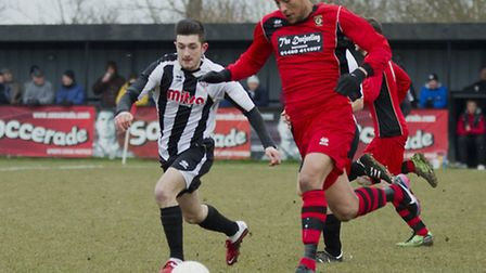 Action from the big Easter Monday derby. Picture: Louise Thompson.