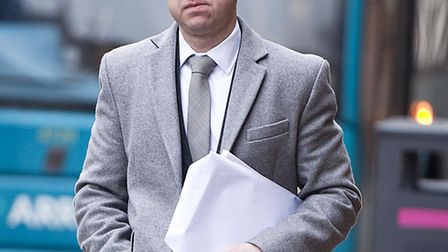 Scott Jarvis arriving at Leicester magistrates court. Picture courtesy of Damien McFadden/Daily Mail