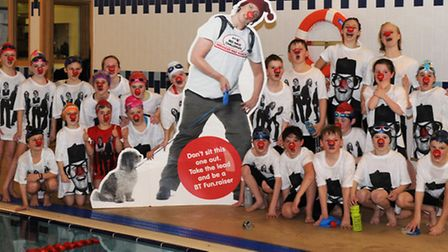 City of St Albans Swimming Club raise nearly £1,900 for Comic Relief - picture by Arif Gardner