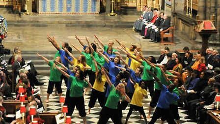 Living the Dream performing at Westminster Abbey