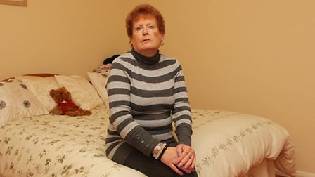 Beverly Hughes in her spare bedroom