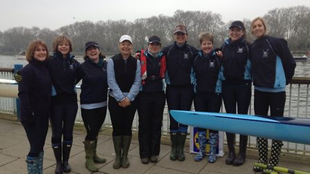 THAMES ROWERS: St Neots' women's eight of Natasha Wilson at stroke, Mia Hartwell, Ali Brown, Lynne T