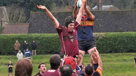 Cam O'Connor secures a line-out for Tabard.