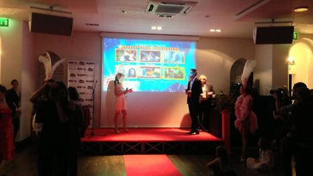 Festival director Leoni Kibbey and Martin Collins from Magic FM hosting the closing ceremony of the