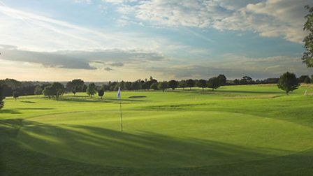 The 17th green at Redbourn Gold Club.