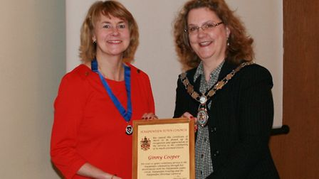 Ginny Cooper with Cllr Linacre