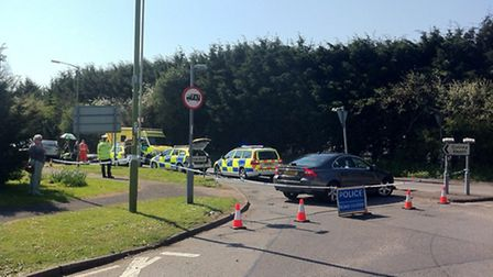 Emergency services on the scene in Station Road