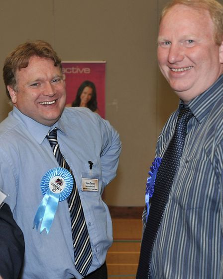Count me in? Cllr Steve Count (right) tipped as possible leadership contender. Pictured with Steve T