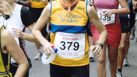 Kathryn Hall completed her 100th marathon.