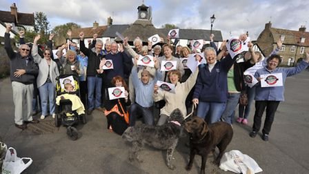 Houghton Villagers win victory of their Historic Hill , Residents of Houghton and Wyton backed their