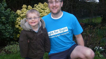 Richard Bream with his nephew Aaron White who sufferes from acute glaocoma