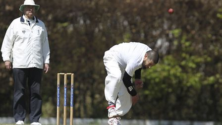 Ghulam Quereshi bowls for Old Albanian