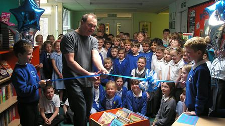 Paul Geraghty opens Studlands Rise School library