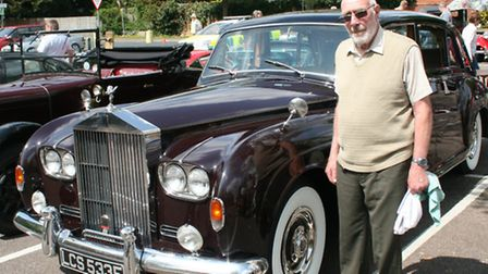 Peter Nightingale with his Rolls Royce Phantom V