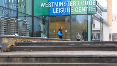 Steps leading up to Westminster Lodge Leisure Centre