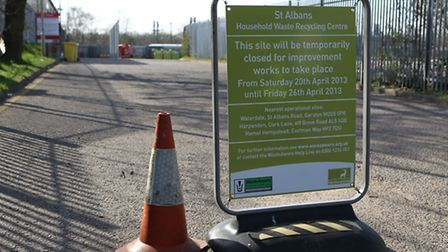 St Albans waste recycling centre is closed for a week