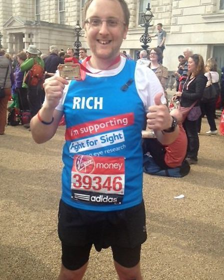 Richard Bream who raised more than £2,000 for fight for sight