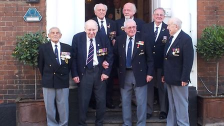 Royal Navy Veteran Frank Witton of St Albans, back right, at the reunion