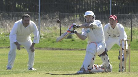 FIRST DAY: Eaton Socon batsman Paul Field in action during their opening day draw in Premier Two.