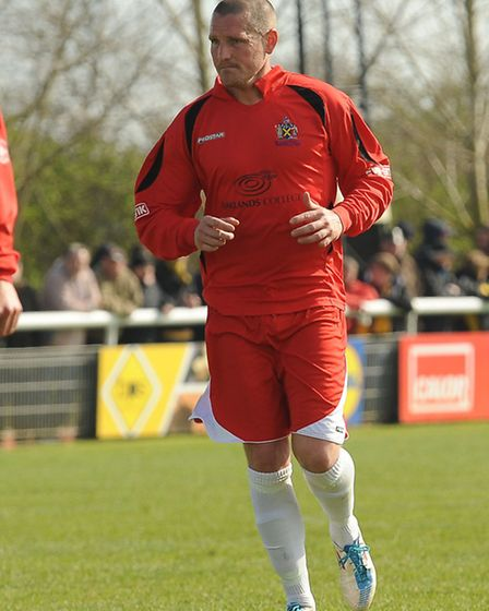 Joint manager James Gray returned to the pitch after 10 weeks out with a hip injury. Picture by Bob
