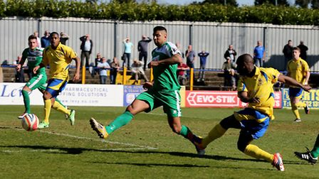 Chris Henry scores in the 71st minute. Picture by Leigh Page