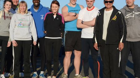 TEAM WORK: The Hunts AC team that went to Colchester and came second in the first Southern League me