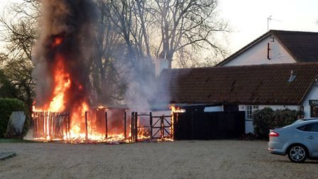Fire at the Old Ferry Boat Inn