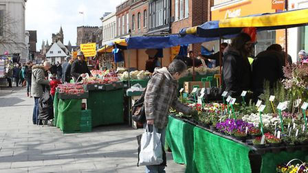 Market day in St Albans