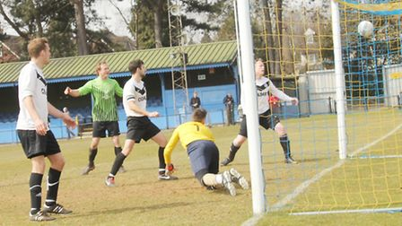 Skew Bridge's opening goal against Verulam Arms in the Herts Sunday Cup
