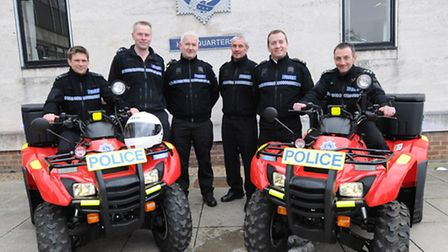 The quad bikes and some of the officers trained to ride them